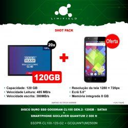 Disco Duro Ssd Goodram CL100 Gen.2- 120GB – SATAII 20x + OFERTA Smartphone GoClever QUANTUM 2 500 N - Shot pack 19 - Limifield