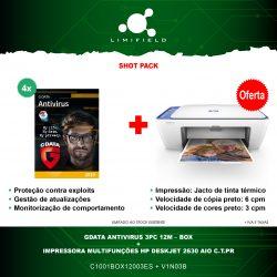 GDATA ANTIVIRUS 3PC 12M – BOX 4x + OFERTA Impressora Multifunções HP Deskjet 2630 AIO C.T.Pr - Shot Pack-Limifield