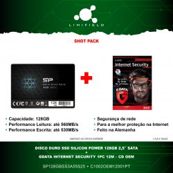 Disco Duro SSD Silicon Power 128Gb 2,5 Sata + Gdata Internet Security 1PC 12M - CD OEM - Shot Pack - Limiifeld