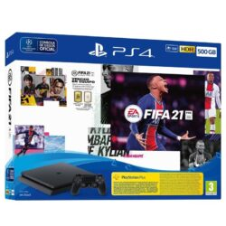 Consola Playstation Sony 4 Slim 500GB + Fifa21 + Ofertas